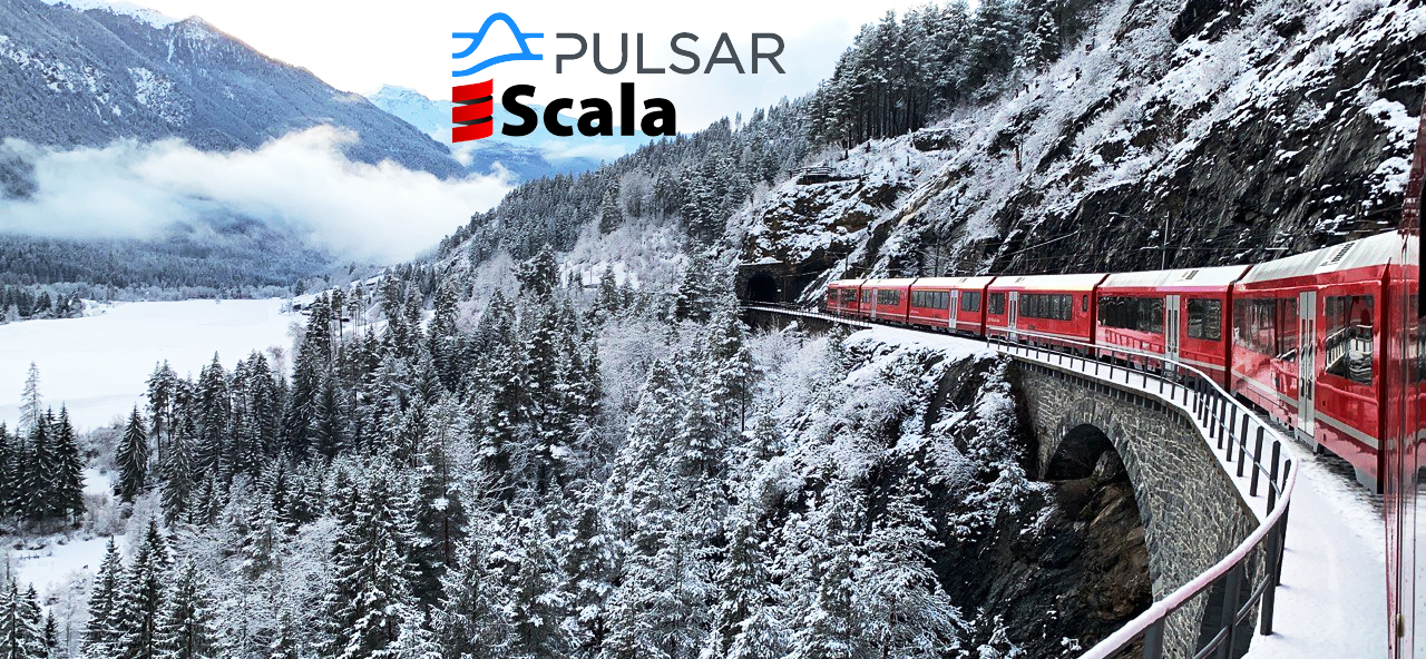 Event-driven railway network based on Pulsar